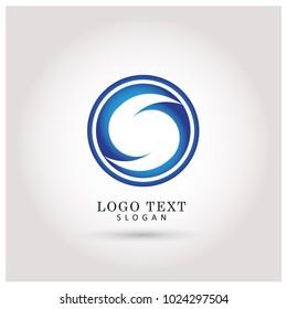 S Circle Logo. Symbol & Icon Vector Template.