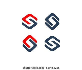 S or CS letter logo template