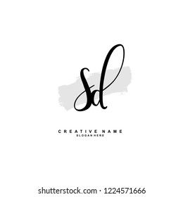 S D SD Initial logo template vector