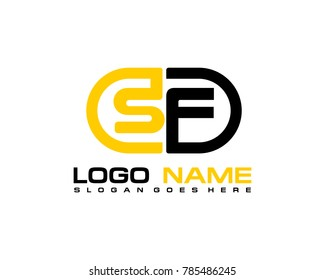 S F initial logo template vexctor