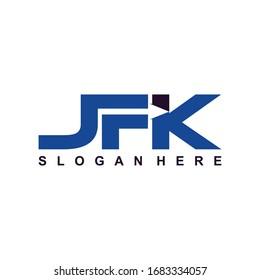 S F K Initial logo template vector, Logo Letter F With K, SFK Logo. Letter Design Vector.