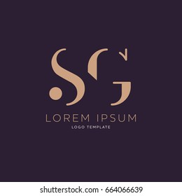S G logo design template