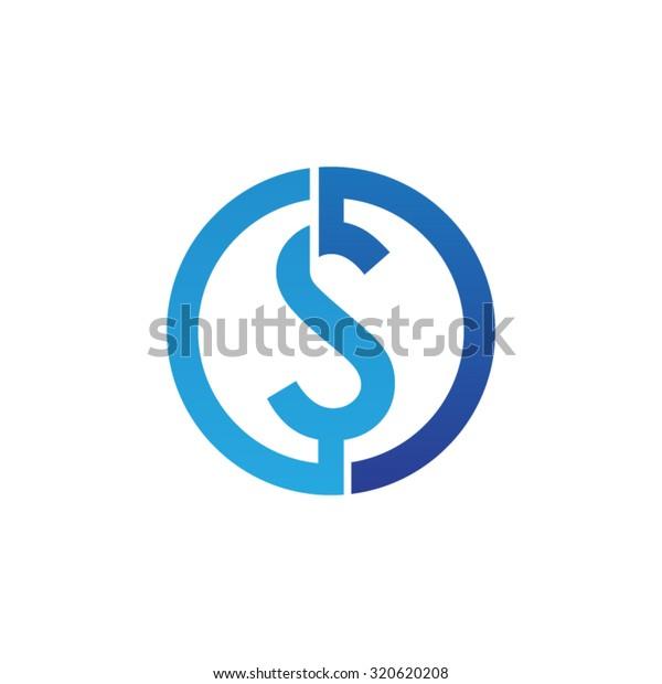 S initial circle company or SO OS logo blue