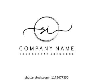 S I Initial handwriting logo vector