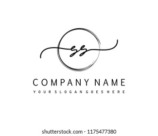 S S Initial handwriting logo vector