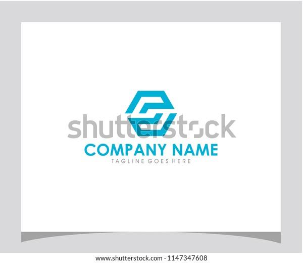 S initial hexagon icon logo design vector eps 10