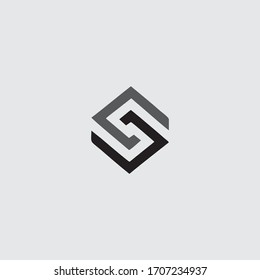S Initial Logo Design Vector Creative Simple