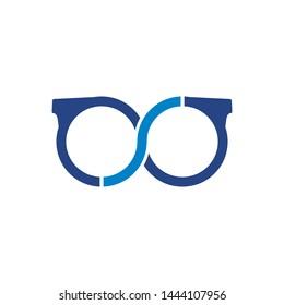 S initial logo. S glasses logo design
