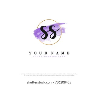 S S Initial water color logo template vector