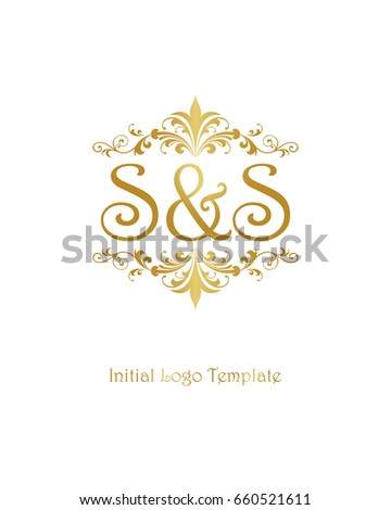 s s initial wedding logo template stock vector royalty free