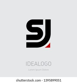 S and J initial logo. JS initial monogram logotype. SJ - Vector design element or icon.