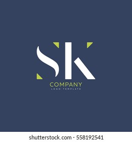S K logo vector template