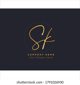 S K SK Initial letter handwriting and signature logo. Beauty vector initial logo .Fashion, boutique, floral and botanical