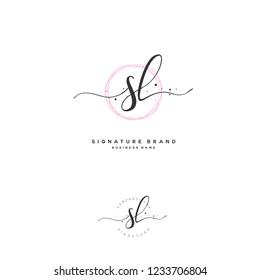 S L SL Initial logo template vector