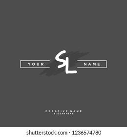 S L SL Initial logo template vector. Letter logo concept