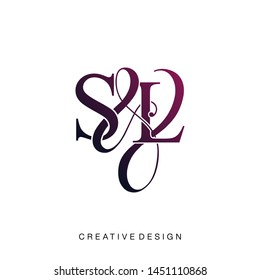 S & L / SL logo initial vector mark. Initial letter S and L SL logo luxury vector logo template.