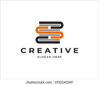 S letter book vector logo design. Education logo icon design