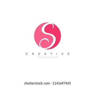 S letter feminine style corporate logo