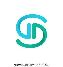S letter line logo