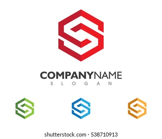 S Letter Logo Business professional logo template
