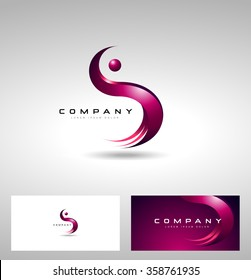 S Letter Logo Design. Creative Vector logo with letter S creative concept.