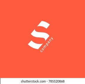 S Letter logo vector icon.