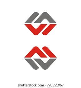 S logo, MW logo, WM logo design template vector illustration