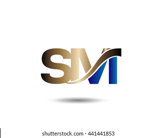 S and M logo vector
