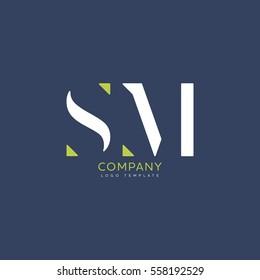 S M logo vector template
