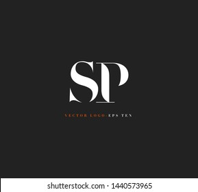 S & P letters Joint logo icon vector template for corporate logo and business card design.