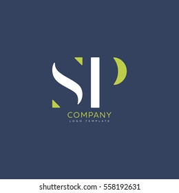 S P logo vector template