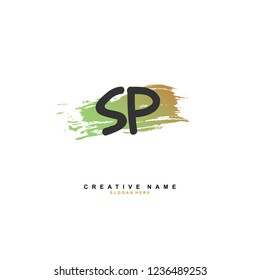 S P SP Initial logo template vector. Letter logo concept