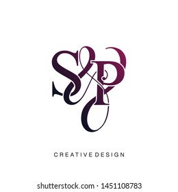 S & P / SP logo initial vector mark. Initial letter S and P SP logo luxury vector logo template.