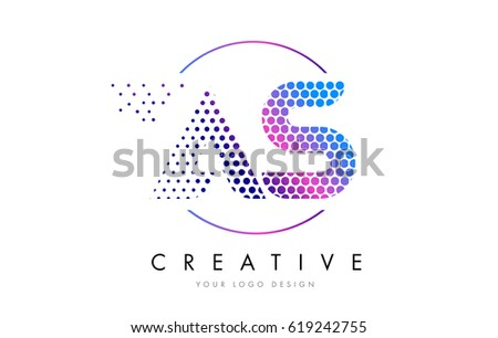 S Pink Magenta Dotted Bubble Letter Stock Vector Royalty Free