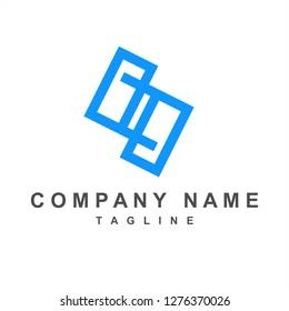 s, pp, psp initials company logo