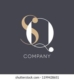 S Q logo template