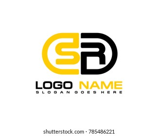 S R initial logo template vexctor