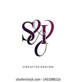 S & I / SI logo initial vector mark. Initial letter S and I SI logo luxury vector logo template.