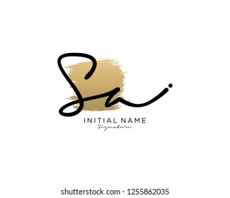S A Signature initial logo template vector