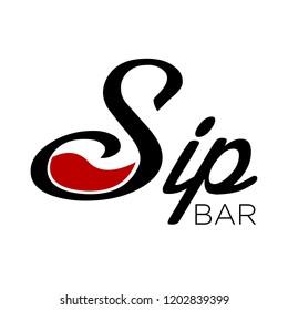 S or Sip Wine Bar Logo