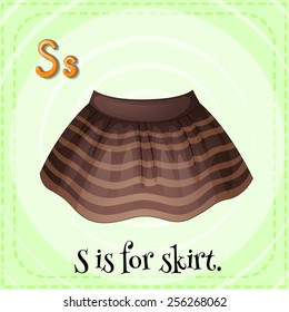 S is for skirt