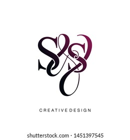 S & S / SS logo initial vector mark. Initial letter S and S SS logo luxury vector logo template.