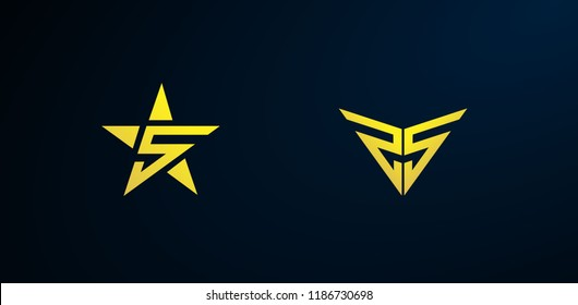 S star logo, Set of abstract vector company business logo icons popular web concepts