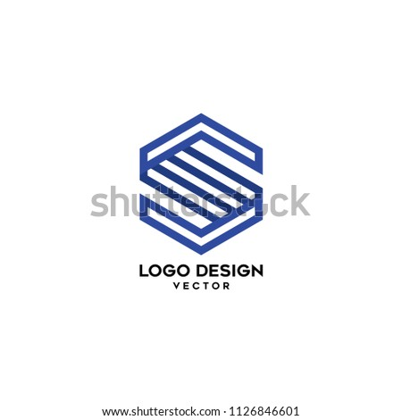 s symbol company logo template stock vector royalty free
