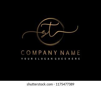 S T Initial handwriting logo vector