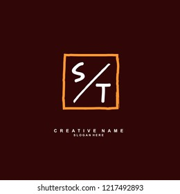 S T ST Initial logo template vector