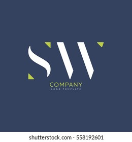 S W logo vector template