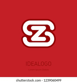 S and Z initial logo. SZ - Vector design element or icon. Initial monogram logotype.