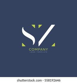 S Z logo vector template