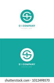S1 company logo template.